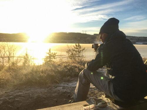 Fika vid isleden Järvsö