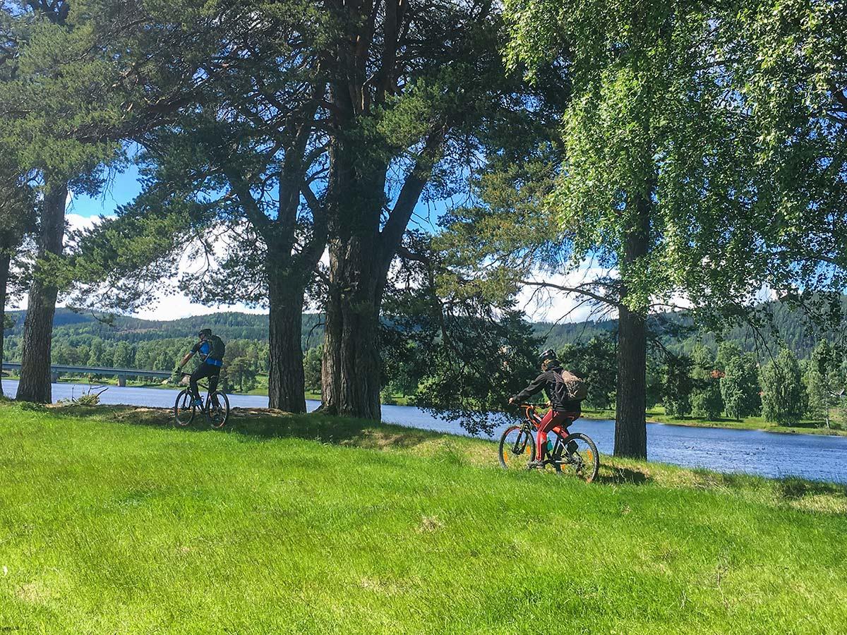 Cykelguidning i Järvsö